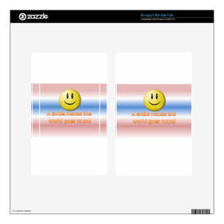 A smile makes the  world goes round kindle fire decal
