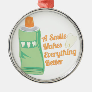 A Smile Metal Ornament