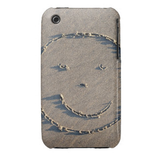 A smiley face drawn in sand. iPhone 3 cases