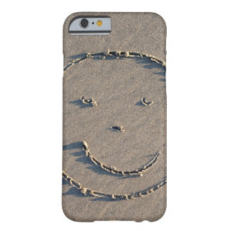 A smiley face drawn in sand. barely there iPhone 6 case