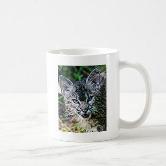 A Smiling Bobcat Kitten Coffee Mug
