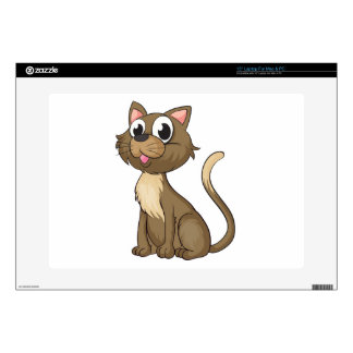 A smiling cat laptop decals