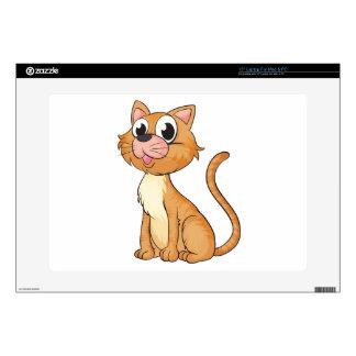 """A smiling cat 15"""" laptop skin"""
