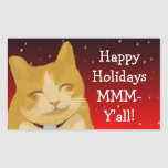 A smiling cat wish you happy holidays sticker