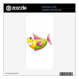 A smiling colorful aquatic fish iPhone 4 skins