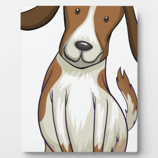 A smiling dog plaques