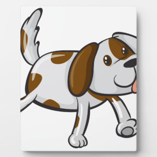 A smiling dog photo plaques
