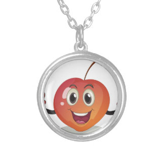A smiling fruit round pendant necklace