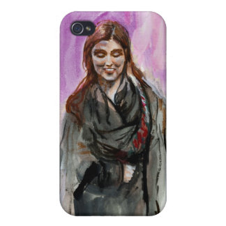 A Smiling Girl in Black iPhone 4/4S Cases