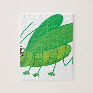 A smiling grasshopper jigsaw puzzle