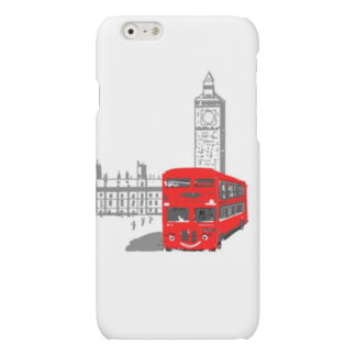 A smiling London Bus, Big Ben in background Matte iPhone 6 Case