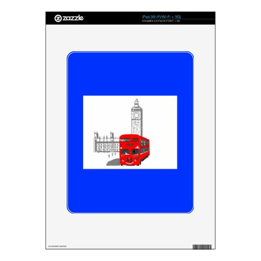 A smiling London Bus Skin For The iPad