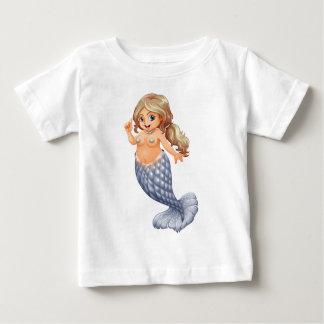 A smiling mermaid baby T-Shirt