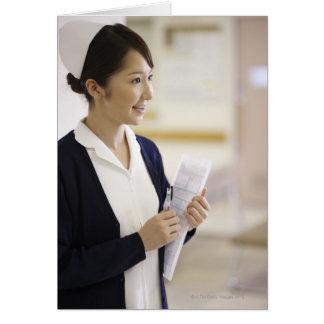 A smiling nurse card