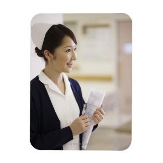 A smiling nurse magnet