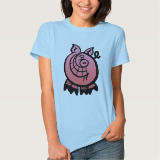 A Smiling Pig is a Happy Pig Tee Shirt