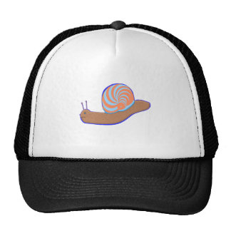 A smiling Snail on tshirts for adults Trucker Hat