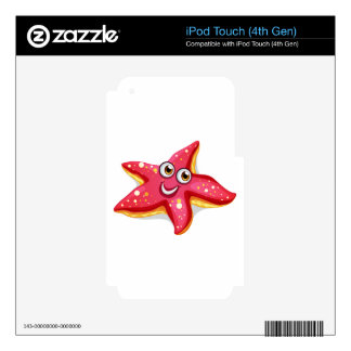 A smiling starfish decals for iPod touch 4G