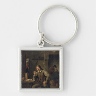 A Smoker Leaning on a Table, 1643 Keychain