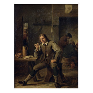 A Smoker Leaning on a Table, 1643 Post Cards