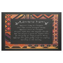 A smudging Prayer Fabric