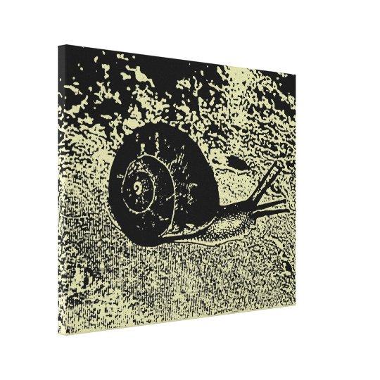 A Snail Canvas Print