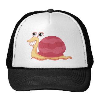 A snail trucker hat