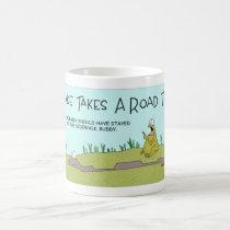 A  snake's road trip coffee mug