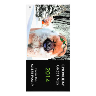 A SNOW DAY Chow holiday card CUSTOMIZE Photo Card