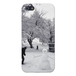 A Snowball Fight In Central Park Cover For iPhone SE/5/5s