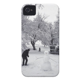 A Snowball Fight In Central Park iPhone 4 Case
