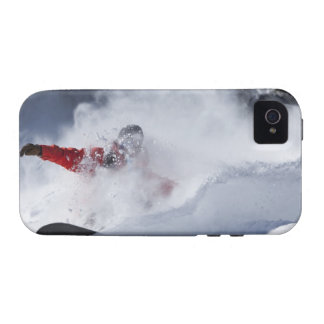 A snowboarder rips untracked powder turns in iPhone 4/4S cases
