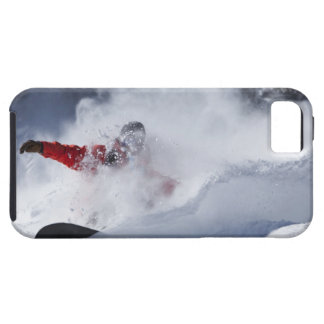 A snowboarder rips untracked powder turns in iPhone 5 cover