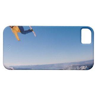 A snowboarder spins off a jump in Argentina iPhone SE/5/5s Case