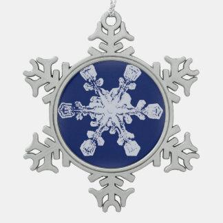 A Snowflake 10 Snowflake Snowflake Pewter Christmas Ornament