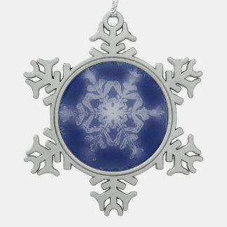 A Snowflake 7 Snowflake Snowflake Pewter Christmas Ornament
