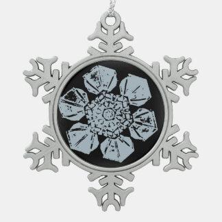 A Snowflake 9 Snowflake Snowflake Pewter Christmas Ornament