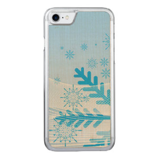 A Snowflake Abstract Carved iPhone 7 Case