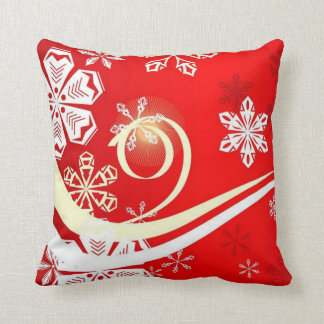 A Snowflake with Swirls Pillow