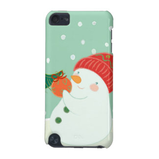 A snowman hanging an ornament on a tree iPod touch 5G case