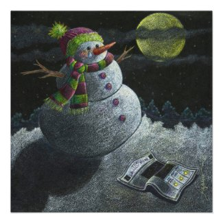 A Snowman Tear Poster