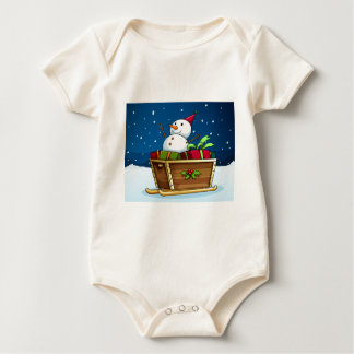 A snowman with an empty callout baby bodysuit