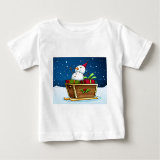 A snowman with an empty callout baby T-Shirt