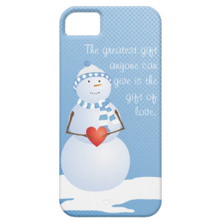 A Snowman With Heart iPhone SE/5/5s Case