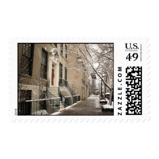 A Snowy Day on the Upper East Side Postage Stamps