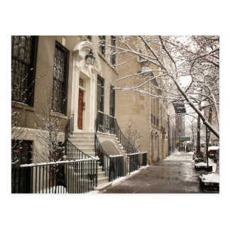A Snowy Day on the Upper East Side Postcard