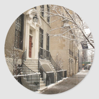 A Snowy Day on the Upper East Side Sticker