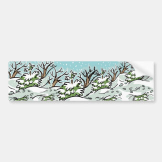 A Snowy Forest - Bumper Sticker