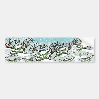 A Snowy Forest - Bumper Sticker