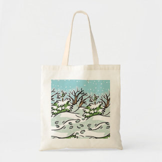 A Snowy Forest - Tote Bag